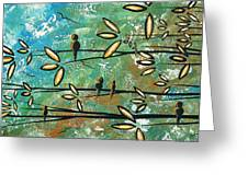 Free As A Bird By Madart Greeting Card