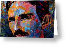 Free Energy Nikola Tesla Greeting Card