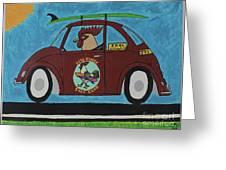 Free Range Bug Greeting Card