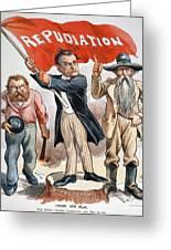 Free Silver Cartoon, 1896 Greeting Card by Granger