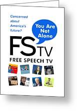 Free Speech Tv Greeting Card