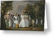 Free Women Of Color With Their Children And Servants In A Landscape Greeting Card
