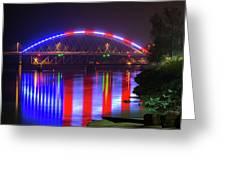Freedom Bridge Greeting Card