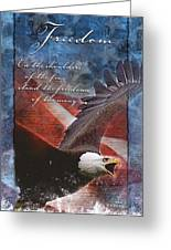 Freedom Greeting Card Greeting Card by William Martin