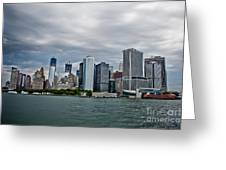 Freedom In Manhattan Greeting Card