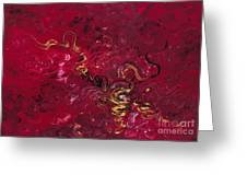 Freedom In Red Greeting Card