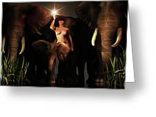 Freedom To The Elephants Greeting Card by Jan Keteleer
