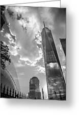 Freedom Tower Bw Greeting Card