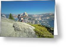 Freedom Woman At Glacier Point Greeting Card