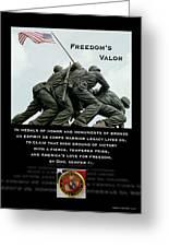 Freedom's Valor II Greeting Card