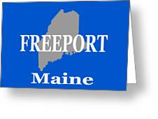 Freeport Maine State City And Town Pride  Greeting Card