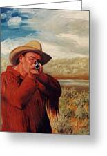Freeze    Rifleman With Muzzle Loader Western Painting Greeting Card