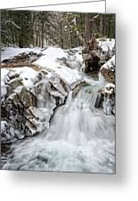 Freeze On The Basin Trail Nh Greeting Card