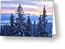 Freezing Sunset 14 Greeting Card