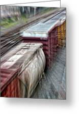Freight Train Abstract Greeting Card