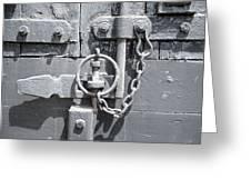 Freight Wagon Latch II Greeting Card