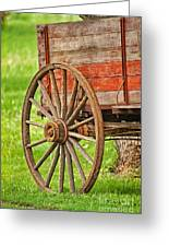 Freight Wagon Wheel Greeting Card