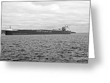 Freighter In Midland Bay Greeting Card
