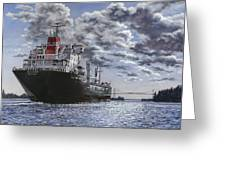 Freighter Inviken Greeting Card