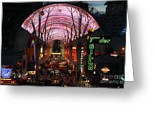 Fremont Street Greeting Card