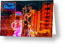 Fremont Street For One From The Heart Greeting Card