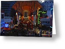 Fremont Street Nevada Greeting Card