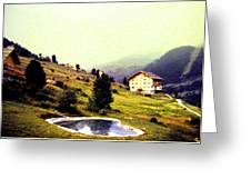 French Alps 1955 Greeting Card