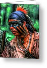 French And Indian War Indian Warrior Greeting Card by Randy Steele