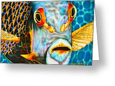 French Angelfish Face Greeting Card