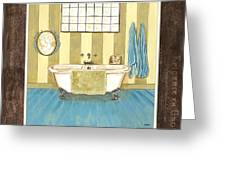 French Bath 2 Greeting Card
