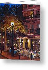 French Bistro At Night Greeting Card