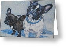 French Bulldog Mom And Pup Greeting Card