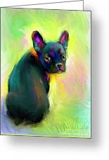 French Bulldog Painting 4 Greeting Card