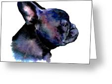 French Bulldog Portrait Greeting Card