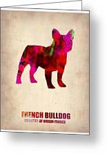 French Bulldog Poster Greeting Card