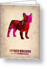 French Bulldog Poster Greeting Card by Naxart Studio