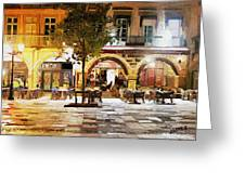 French Cafe Greeting Card by James Shepherd