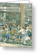 French Cafe Scene  Greeting Card