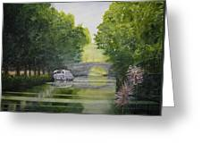 French Canal Greeting Card