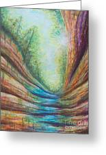 French Canyon At Starved Rock State Park Greeting Card