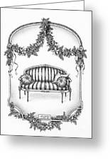 French Country Sofa Greeting Card