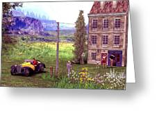 French Countyside  Scene Greeting Card
