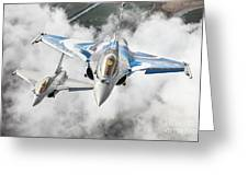 French Dassault Rafale Formation 1 Greeting Card