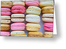 French Delicious Dessert Macaroons Greeting Card