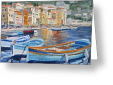 French Harbor Greeting Card