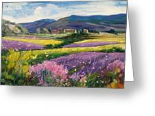 French Landscape Greeting Card