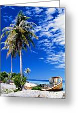 French Polynesia, Beach Greeting Card
