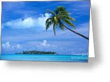 French Polynesia, Bora Bo Greeting Card