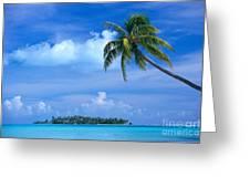 French Polynesia, Bora Bo Greeting Card
