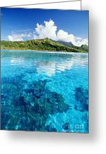 French Polynesia, View Greeting Card